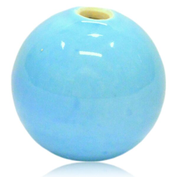 Lyseblå porcelænsekugle 30mm