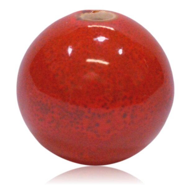 Rød porcelænskugle 30mm til MY lysestage