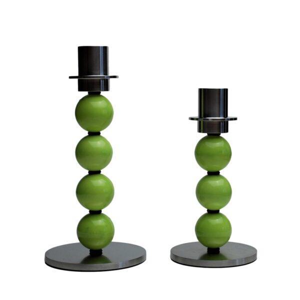kuglelysestage lysestage limegroen groen kugler kronelys